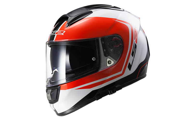 Шлем LS2 FF397 VECTOR WAKE White Black Red