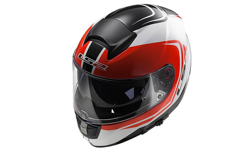 Шлем LS2 FF397 VECTOR WAKE White Black Red - фото 3
