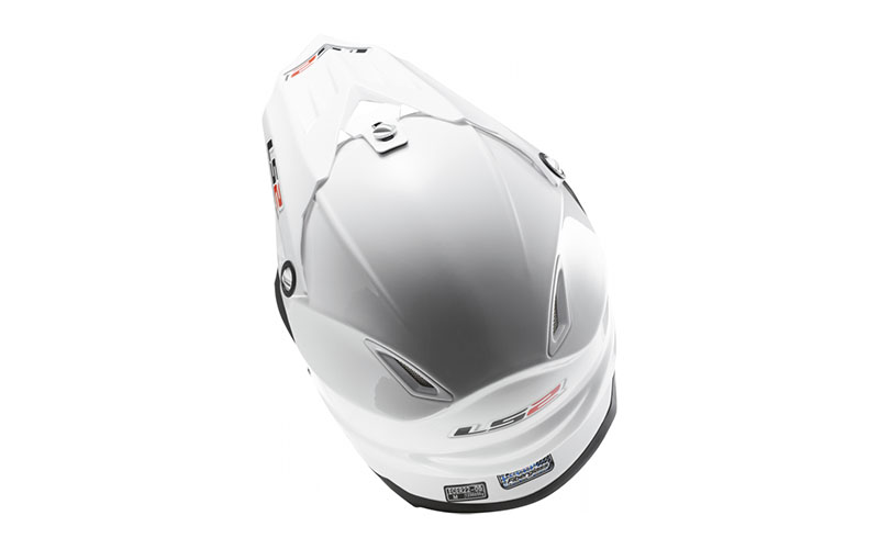 Кроссовый шлем LS2 LIGHT MX456 SINGLE MONO Gloss White - фото 4