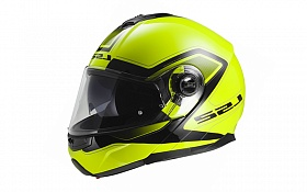 Шлем LS2 FF325 STROBE CIVIK Hi-Viz Yellow Black - фото на Mybro.com.ua
