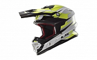 Кроссовый шлем LS2 MX456 FACTORY WHITE BLACK HI-VIS YELLOW